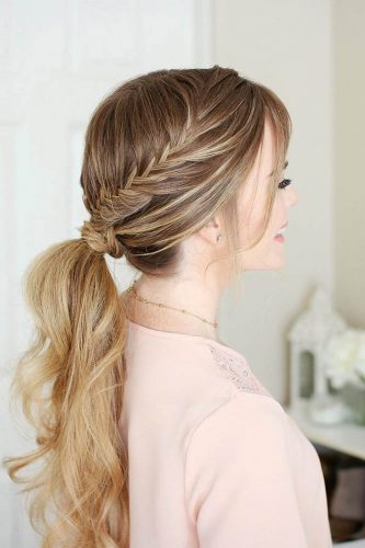 pony tail hairstyles half braid missysueblog
