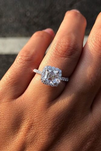 ritani diamond engagement rings asscher cut engagement rings halo engagement rings white gold engagement rings pave band ritani