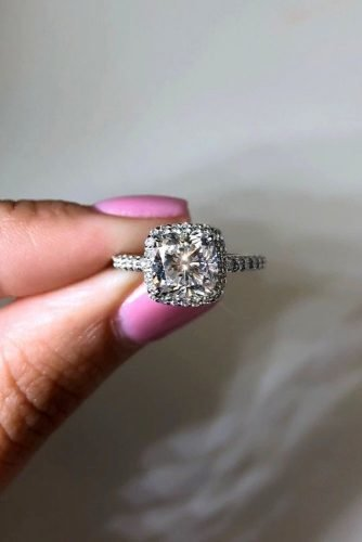 ritani diamond engagement rings cushion cut engagement rings halo engagement rings white gold engagement rings pave band ritani