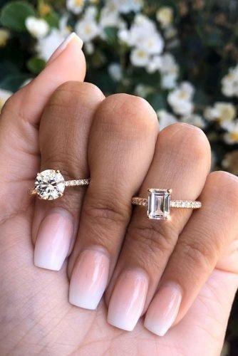 ritani diamond engagement rings round cut engagement rings emerald cut engagement rings rose gold engagement rings pave band ritani