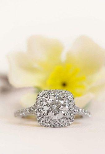 ritani engagement ring diamond pave band white goldhalo ritani