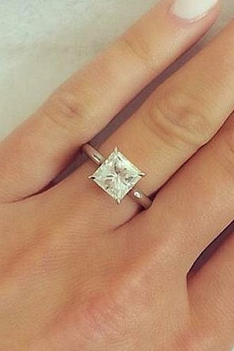 ritani simple princess cut solitaire diamond