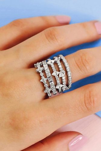 ritani white gold pave band wedding bands diamonds