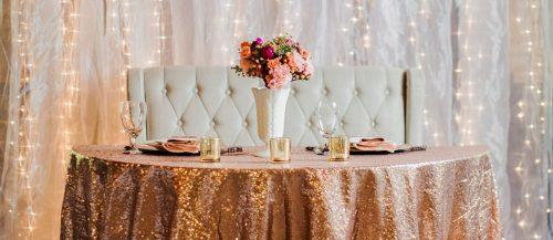 rose gold wedding decor featured