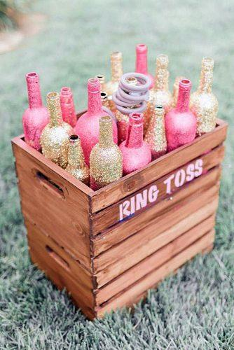 rose gold wedding decor wedding game for the lawn juane designs via instagram