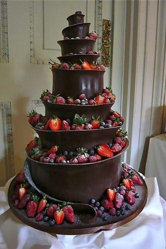 wedding cake alternatives fruits with chocolate wedding dream