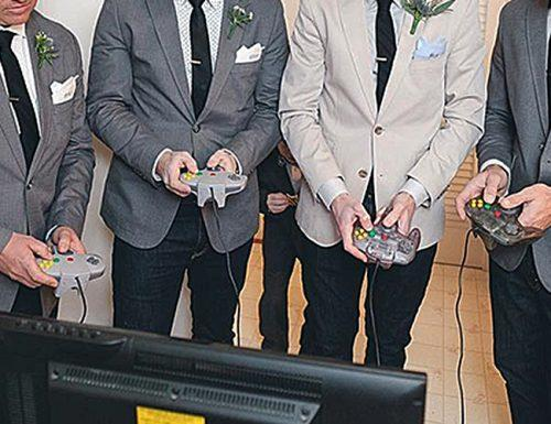 wedding games guests reception video game