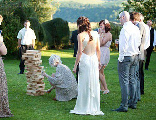 wedding games jenga giant guests fun