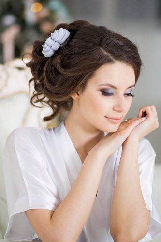 wedding hair and makeup blue colored makeup anastasiya gan