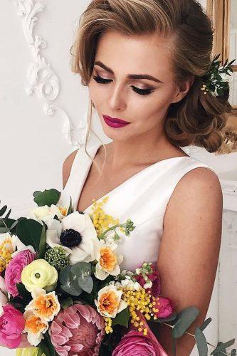 wedding hair and makeup classic low updo archstyle