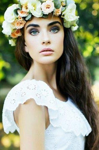 wedding hair and makeup flower crown lidiya byt