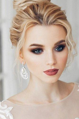 wedding hair and makeup long lashes dark make elstilespb