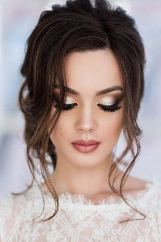 wedding hair and makeup romantic dark hair ssellenna