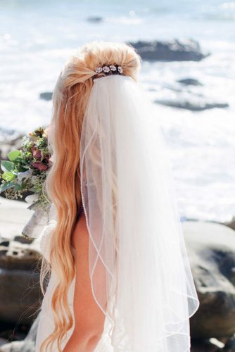 wedding hairstyles with veil long hair with volume abbey lunt photography