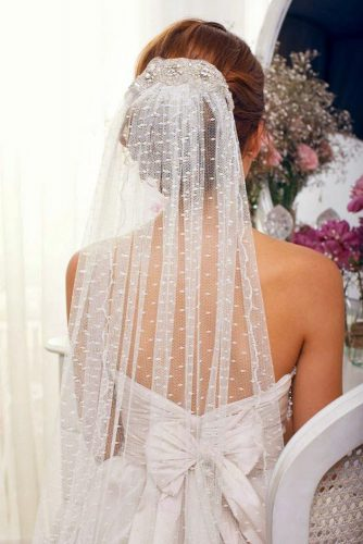wedding hairstyles with veil updo on dark hair anna campbell veils