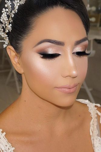 wedding makeup for brunettes bright smokey eyes vanitymakeup