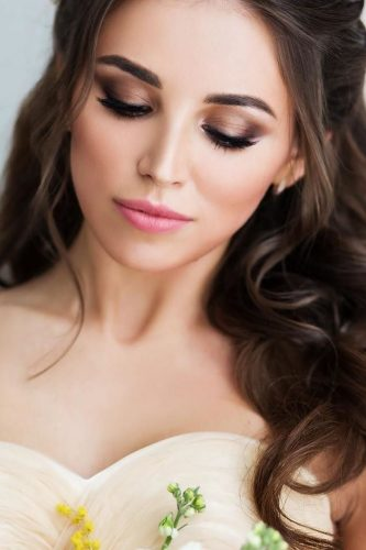 wedding makeup for brunettes bronze makeup with rose lips archstyle