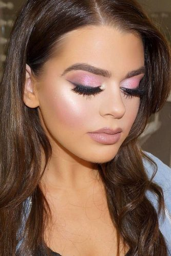 wedding makeup for brunettes colored pink vanitymakeup