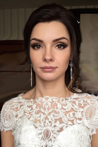 wedding makeup for brunettes matte lips anastasiya gan