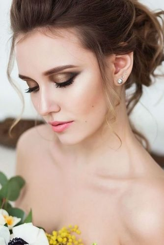 wedding makeup for brunettes romantic bronze archstyle