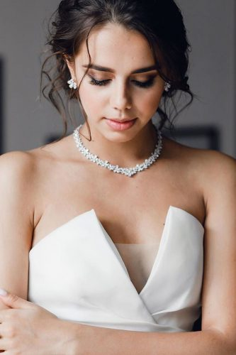 wedding makeup for brunettes smokey eyes with bride shumov wedding