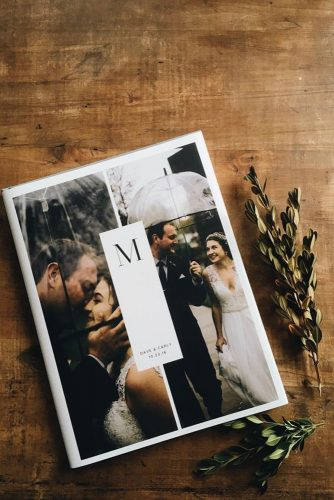 wedding photo book cover with photo artifactuprising via instagram