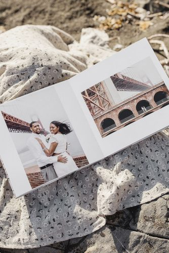 wedding photo book design pages with bride and groom sf bay area photographer