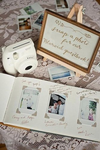 wedding photo book wishes for bride and groom makemerryevents via instagram