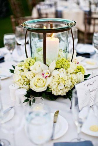 wedding table decorations candle and flowers jennifer bowen photography