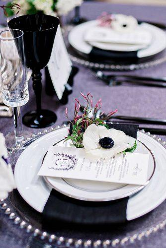 wedding table decorations classy black grey and white andie freeman via instagram