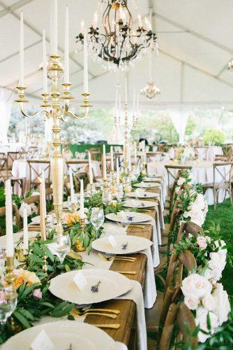 wedding table decorations elegant décor with greenery kerinsa marie photography