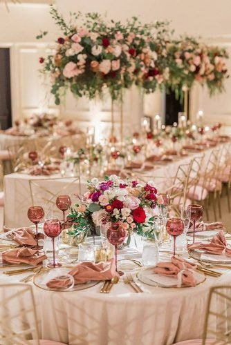 wedding table decorations romantic flower table decor alex w photography