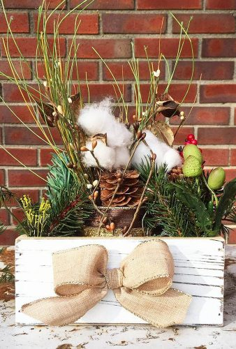 winter wedding decorations box with bow fortheloveofflair