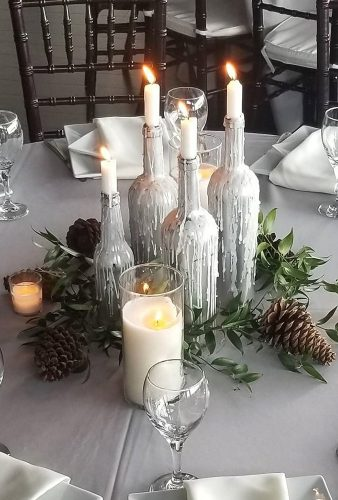winter wedding decorations candle centerpiece sweetndesign