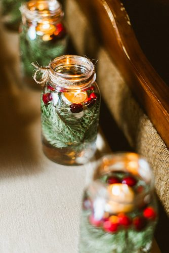 winter wedding decorations decor with jars Molly Jo Collection