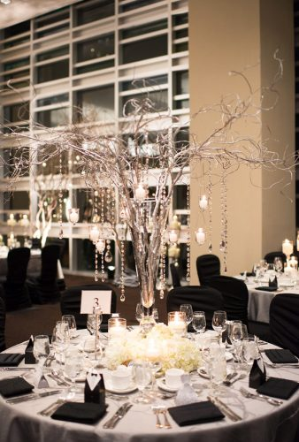 winter wedding decorations high tree centeroiece blush wedding photography