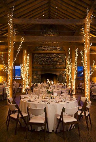 winter wedding decorations light reception brinton studios