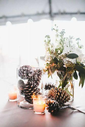 winter wedding decorations wedding centerpiece TealePhotography