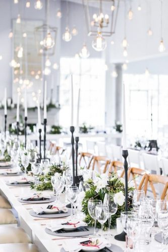 winter wedding decorations white reception decor Daniel West