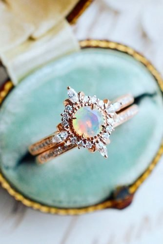 opal engagement rings unique opal rings rose gold engagement rings wedding ring sets bridal sets michelliafinejewelry
