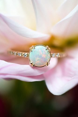 opal engagement rings round cut opal rings rose gold engagement rings simple engagement rings solitaire engagement rings skindco