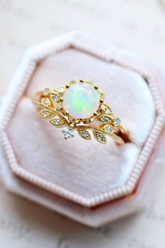 opal engagement rings unique opal rings rose gold engagement rings unique engagement rings ring boxes michelliafinejewelry