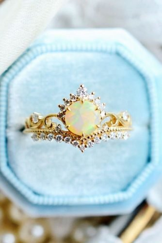opal engagement rings unique opal rings rose gold engagement rings unique engagement rings floral rings michelliafinejewelry