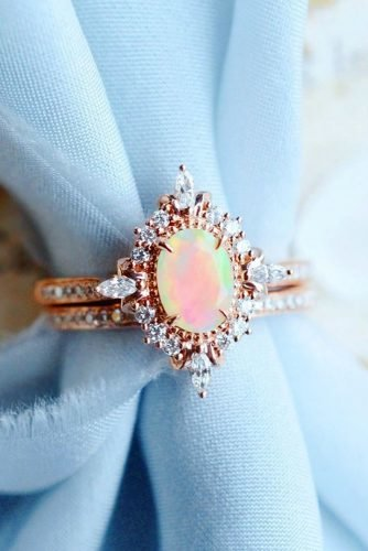 opal engagement rings oval cut opal rings rose gold engagement rings unique engagement rings wedding ring sets bridal sets michelliafinejewelry