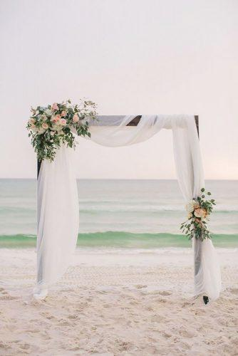 beach wedding decoration ideas beach arch Pure7 Studios