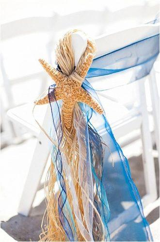 beach wedding decoration ideas beach chair decor Kristen Lynne Photography