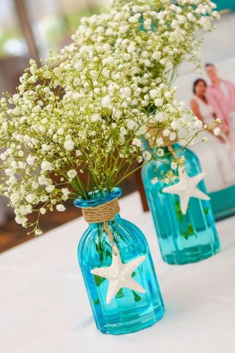 beach wedding decoration ideas green flower 84weststudios