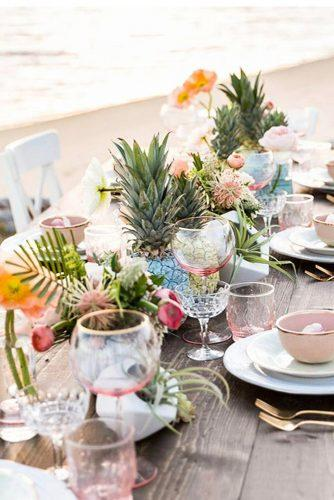 beach wedding decoration ideas table on the beach hannahsarahphotography