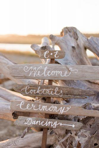 beach wedding decoration wooden destination sign b jones photography