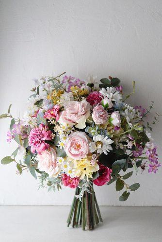 beautiful wedding bouquets colorful pastel summer flowers weddingbouquetjp